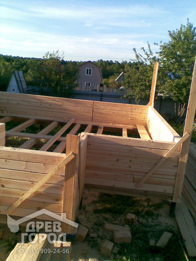 Построить второй этаж на гараже из бруса схемы