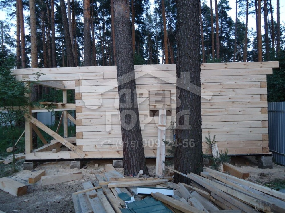 Строительство домов из профилированного бруса под ключ