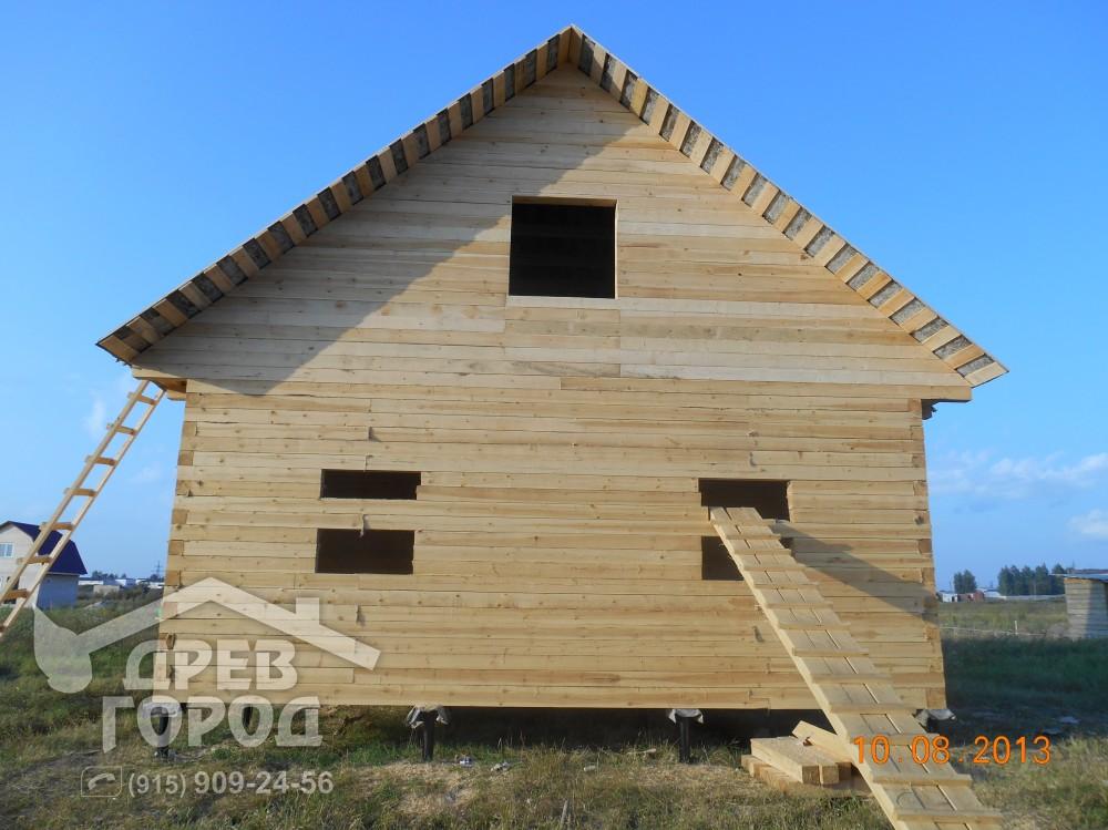 Дом из бруса 8 на 8 построить своими руками 7