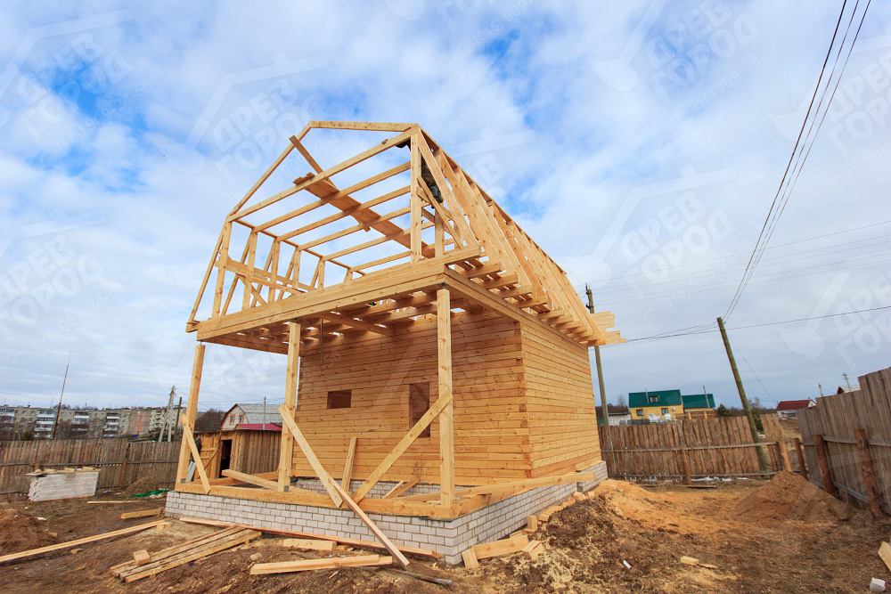 строительство домов из бруса фото