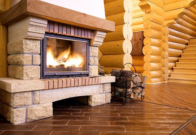 Интерьер в деревянного дома